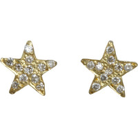 Diamond Mini Star Stud Earrings