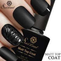 Saviland s 10ml Matt Varnish Matte Coat Nail Gel Polish Nail Art Finish Coat Gel Lacquer Matt Gel