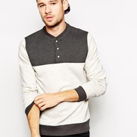 ASOS Sweatshirt With Baseball Neck