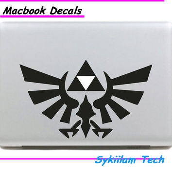 Triforce Zelda for Apple Logo Vinyl Sticker for Macbook Skin Air 11 13 Pro 13 15 17 Retina Laptop Computer Wall Creative Decal