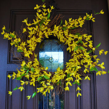 Summer Wreath, Wreath, Flower, Flower Wreath, Yellow Wreath