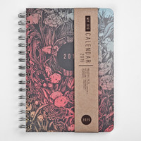 2015 Year Weekly Planner Calendar Diary Day Spiral A5 Dark Forest This Day Planner - BEST Valentines GIFT!