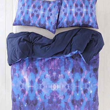 Magical Thinking Astrid Watercolor Duvet Cover- Blue Full/queen