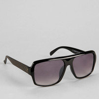 Flat Top Checker Aviator Sunglasses - Urban Outfitters