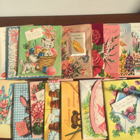 Vintage Greeting Cards Get Well Wishes Box Full