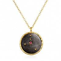 Cancer Zodiac Ruby Necklace | Satya Jewelry