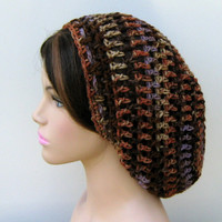 Soft slouchy beanie, Brown Lavender hat, small Dread Tam hat, Slouchy Beanie, Hippie Snood Hat women hat slouch beanie