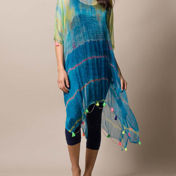 Sea And Sky Silk Caftan