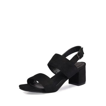 Open Toe Block Heeled Sandals