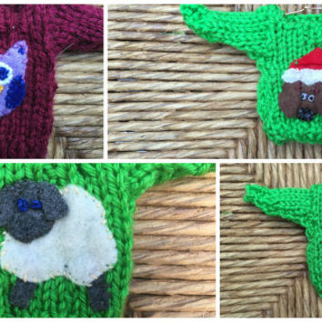 Custom Animal Ornaments, Made to Order Mini Sweater Ornaments with Animal Appliques, Animal Lover Gift, Cat Lover, Dog Lover, Pet Lover Gift