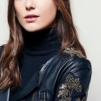 Free People Doma Embroidered Cropped Jacket