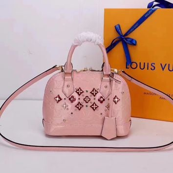 LV Louis Vuitton ALMA BB VERNIS LEATHER HANDBAG SHOULDER BAG