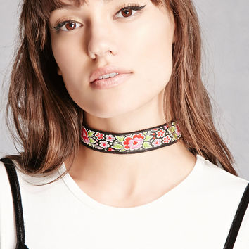 Raj Floral Embroidered Choker