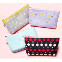 Dash and Dot Hello beauty pattern zipper pouch