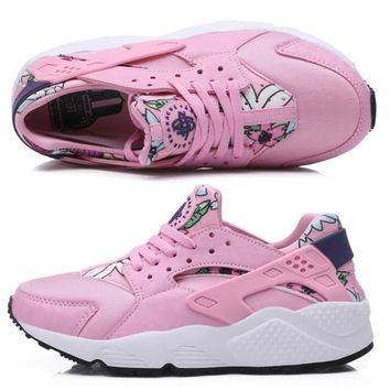 NIKE AIR Huarache Running Sport Casual Shoes Sneakers floral Pink