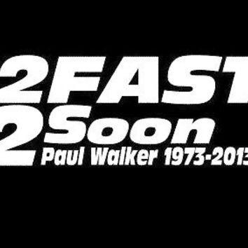 2 fast 2 soon rip paul walker jdm stickers - Custom Decals / Stickers For Cars