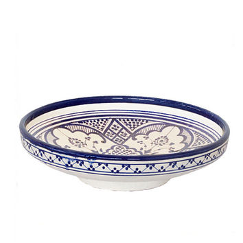 Safi Serving Plate Blue & White
