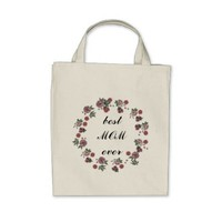 Best MOM ever Grocery Tote Bag for Mother's Day