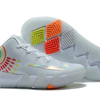 Nike Kyrie Irving 4 White Colorful Sport Shoes US7-12