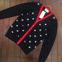 Fashion Online Gucci Bee V-collar Cardigan Sweater