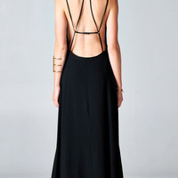 BLACK BACKLESS CAGED MAXI DRESS   PUBLIK   Women's Clothing & Accessories