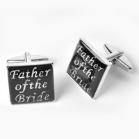 Dashing Cuff Links with Personalized Case - Father of the Bride