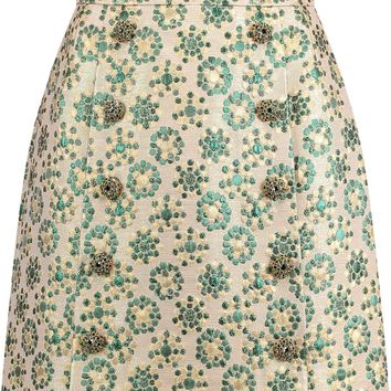 Embellished metallic brocade mini skirt | DOLCE & GABBANA | Sale up to 70% off | THE OUTNET
