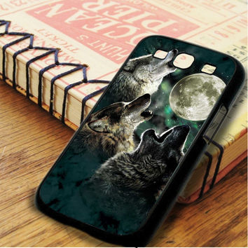 Three Wolf On The Night Samsung Galaxy S3 Case