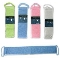 Back Strap Body Scrubber with Handles (Assorted Color)