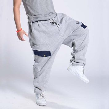 Autumn Winter Plus Size Hip Hop Harem Sweat Pants Cotton Loose Baggy Men Jogger Denim Pocket Streetwear Sweatpant Male Trousers