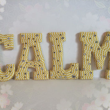 Handcrafted Decorative Letter Set by Tightly Wound Designs