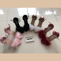 5 Colors Elegant Fur High Heel Sandals SP1812314
