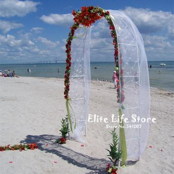 ZHENWEN-Wedding Decoration Party Props White Metal Wedding Arch