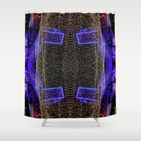 City Synthesis Shower Curtain by RichCaspian