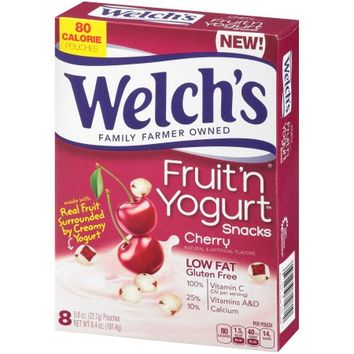 Welch's Fruit 'n Yogurt Snacks Cherry Pouches - 8 CT - Walmart.com
