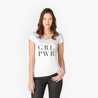 'Girl Power' Women's Fitted Scoop T-Shirt by phantastique