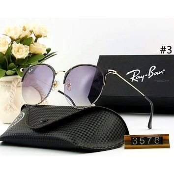 Ray Ban men and women personality versatile color film polarized sunglasses #3