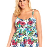 Always For Me Botanical Garden Underwire Plus Size Swim Top