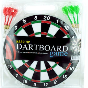 dartboard game with hard tip darts Case of 6