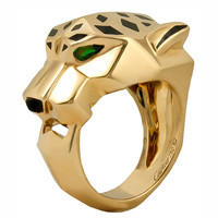 CARTIER Emerald & Onyx Panthere Ring