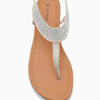 JS 10 Glitter And Crystal T Strap