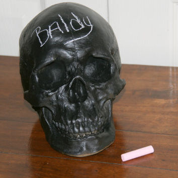"8"" Skull Chalkboard - Black ChalkBoard Skull - Skeleton Bone Head"
