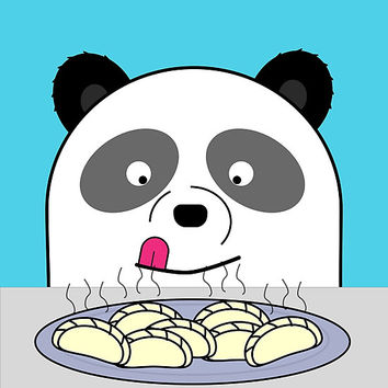 'Cute Hungry Panda' Photographic Print by pewpop