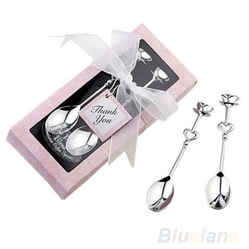 1 Pair LOVE Tea Coffee Drinking Spoon Teaspoon Bridal Shower Wedding Party Favor [7981649031]
