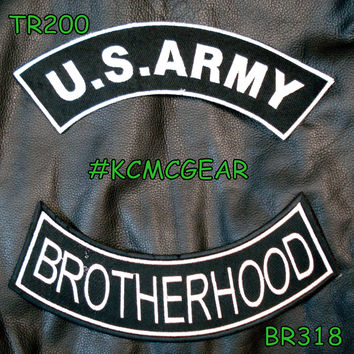 Military Patch Set Army Brotherhood Embroidered Patches Sew on Patches for Jackets