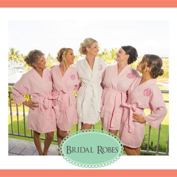 Monogrammed Waffle Robes