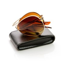 Limited Edition Folding Pocket Aviator Sunglasses + Case