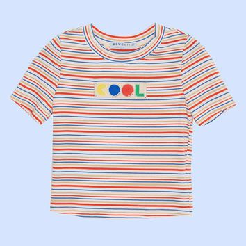 BLUEerror Cool Pacman Cropped Tee | Blue/Green