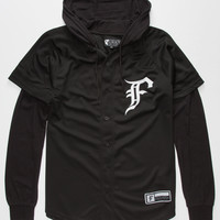 Famous Stars & Straps Knit Pitch Mens Hoodie Black  In Sizes
