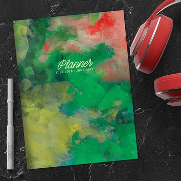 Painted Greenery Planner